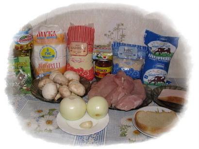 ингредиенты для тефтелей с грибами