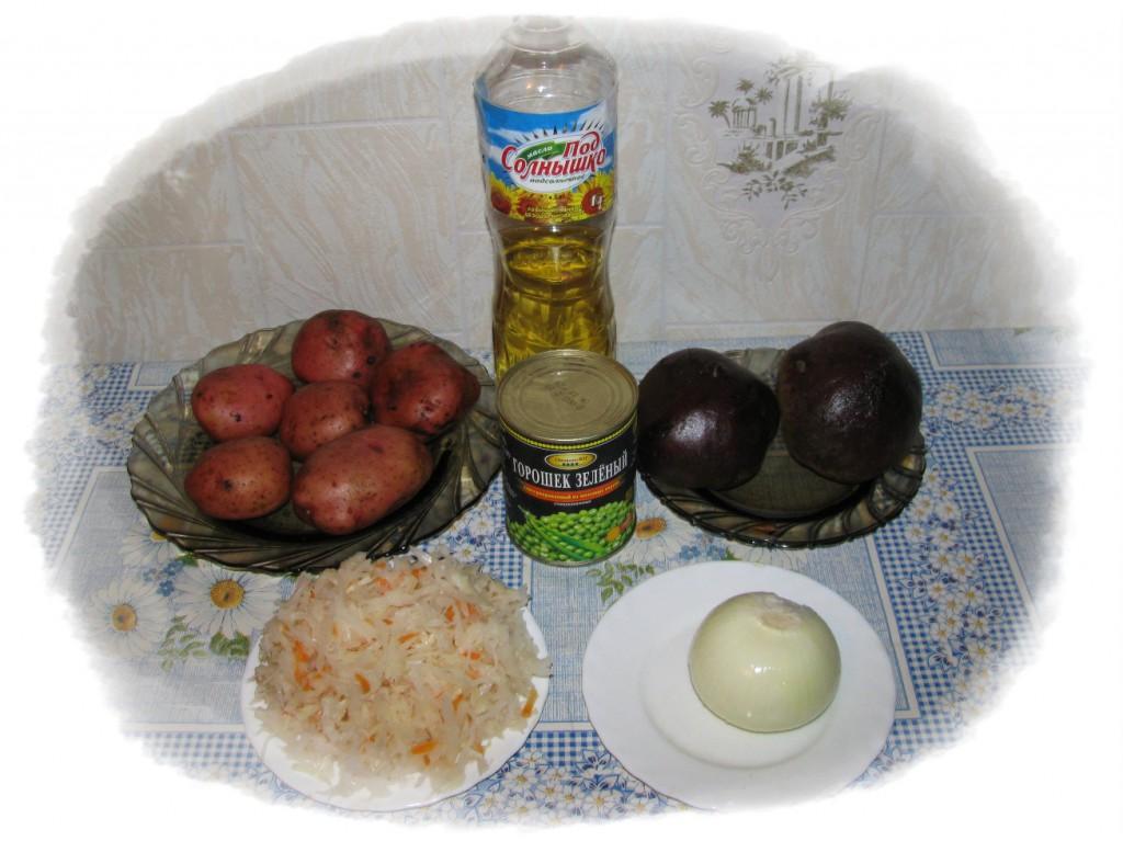 ингредиенты для винегрета