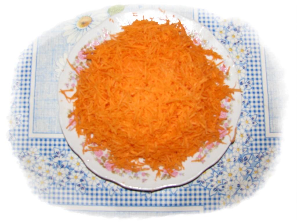 морковь потереть на мелкой тёрке