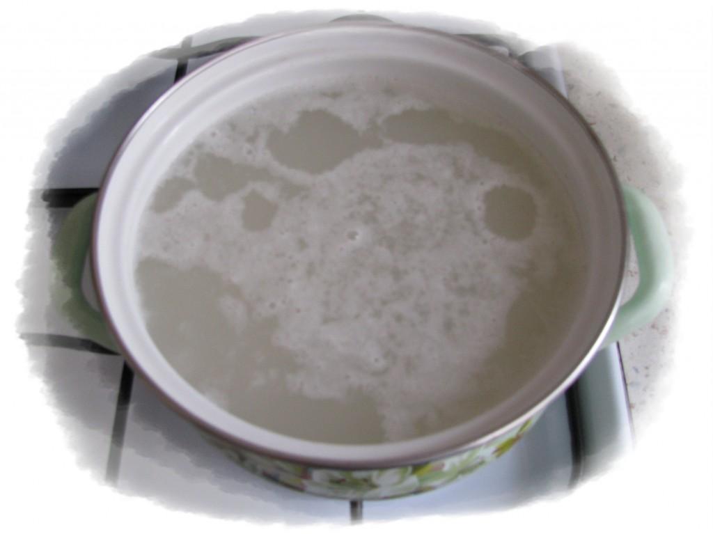 отварить рис до готовности