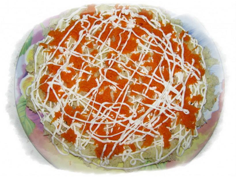 2-й слой морковь, майонез