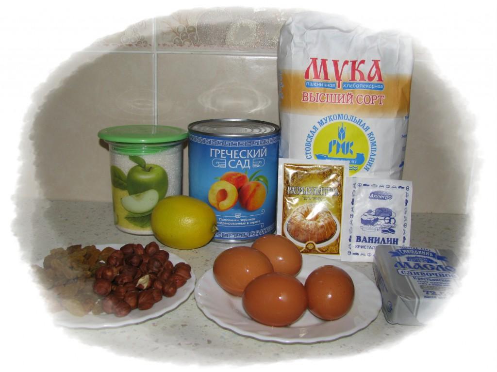 ингредиенты для пирога из персиков