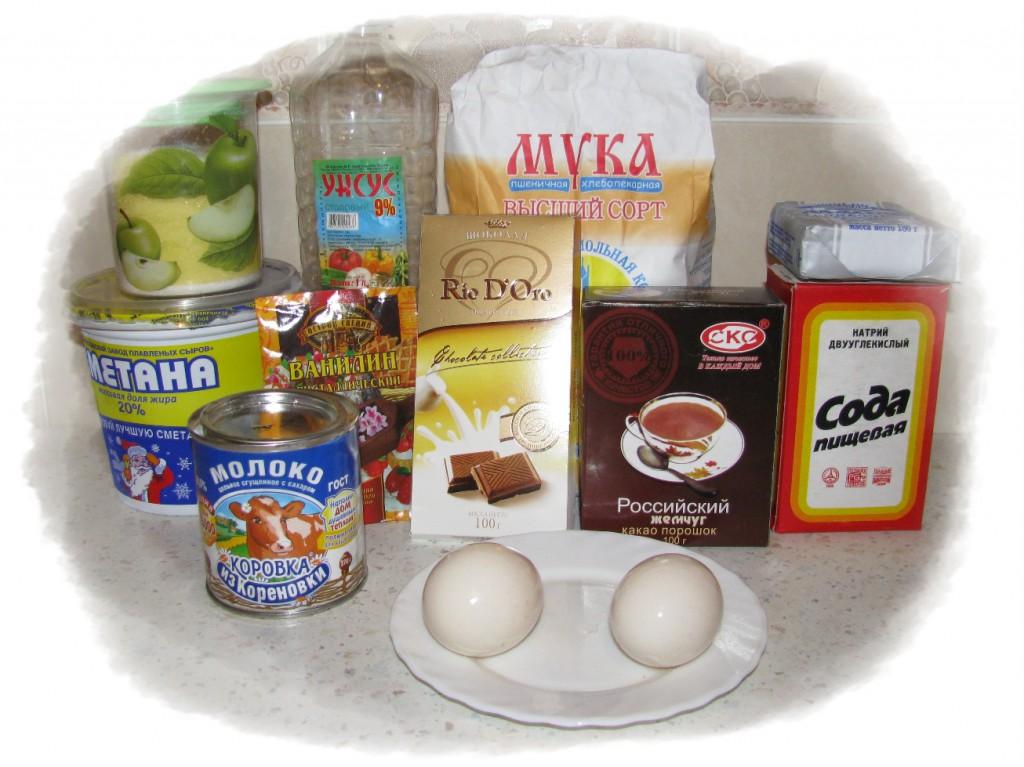 ингредиенты для сметанника