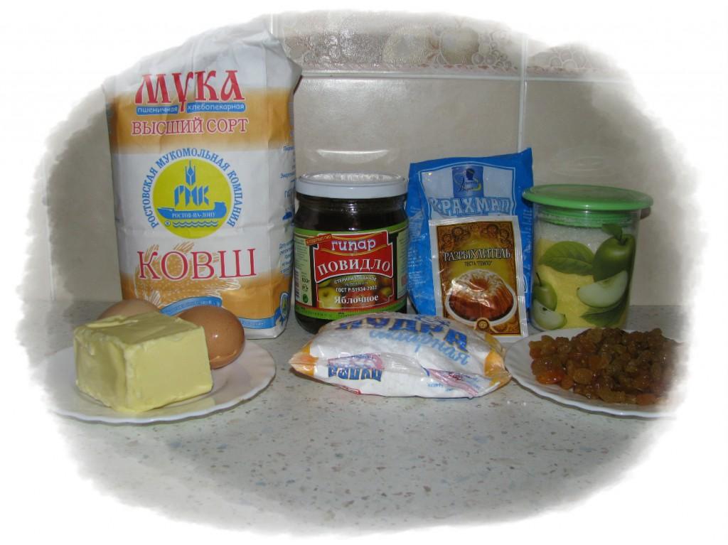 ингредиенты для песочного пирожного