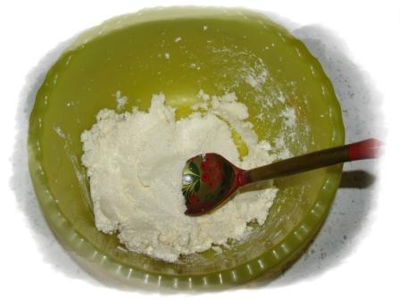 масло растереть с сахаром
