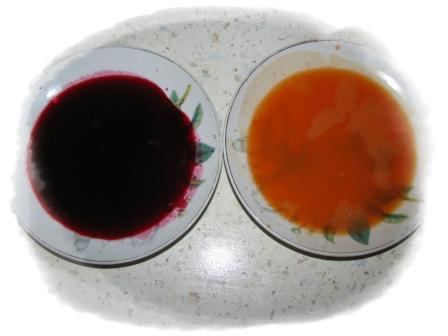 выжимаем сок из моркови и свеклы