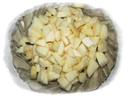 яблоки почистить мелко порезать