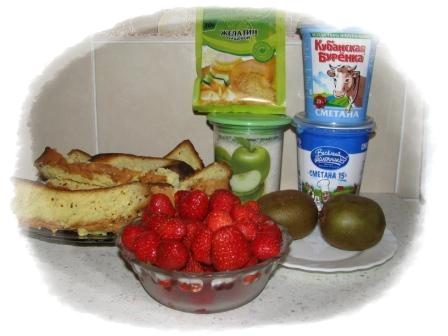 ингредиенты для торта с клубникой