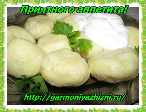 вкусное блюдо из картофеля(картофельные кнели)