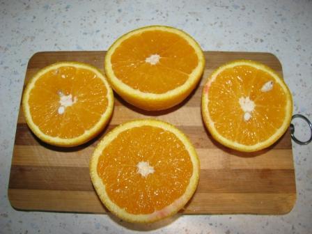апельсины разрезать