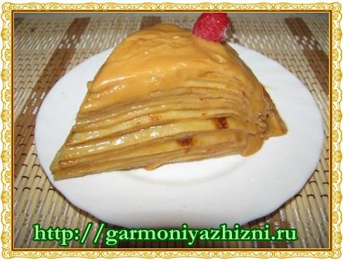 блинный торт со сгущёнкой