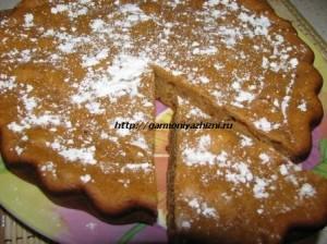 пирог на кефире с вареньем