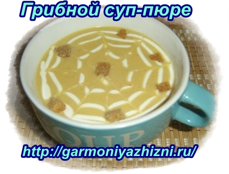 грибной суп пюре с сыром