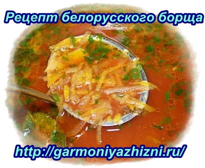 как приготовить белорусский борщ