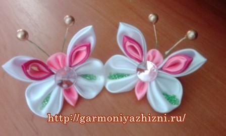 бабочки из атласных лент своими руками