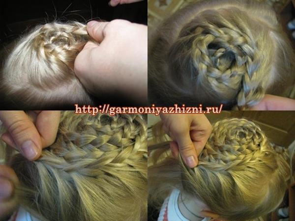 причёска корзина