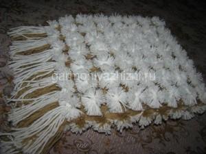 шарф из помпонов своими руками