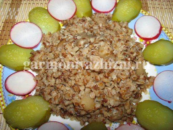 гречка с грибами рецепт с фото