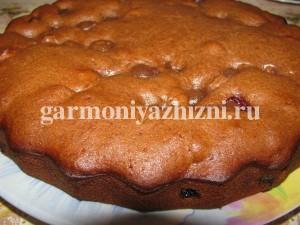 постный пирог с вишней