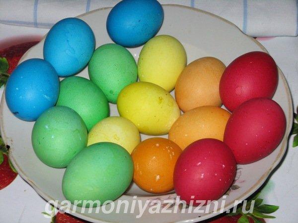крашеныеи яйца на Пасху