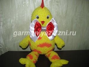 как сшить цыпленка из носка