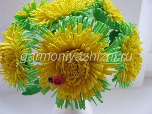 цветок одуванчика их фоамирана