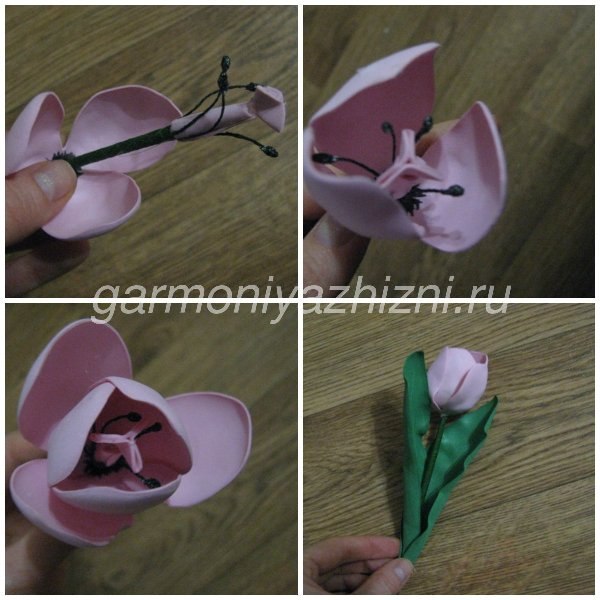 готовый тюльпан из фома