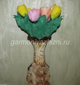 подарок к 8 Марта тюльпаны из фоамирана