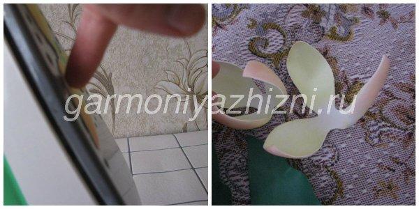 придаем лепесткам тюльпана форму