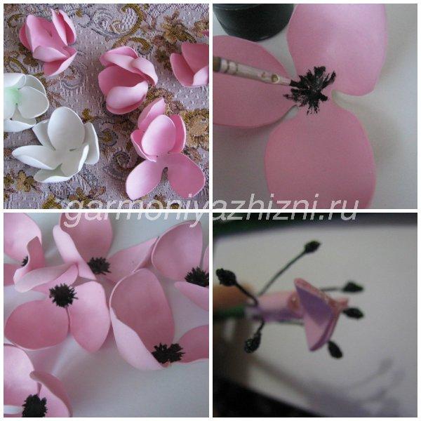 розовые тюльпаны из фоамирана из твойных лепестков