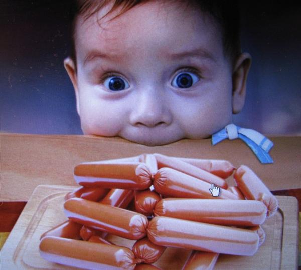вред колбасы и сосисок для детей