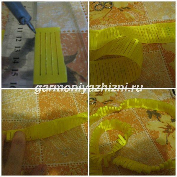 разрезаем ленту для одуванчика паяльником