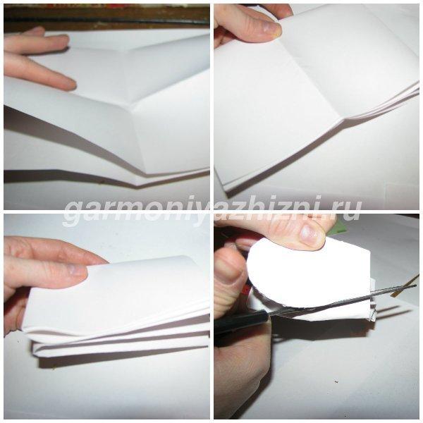 лепесток для ромашки из бумаги