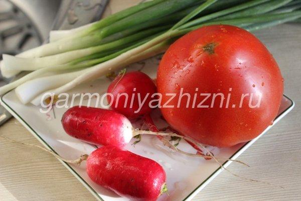простые салаты с редисом