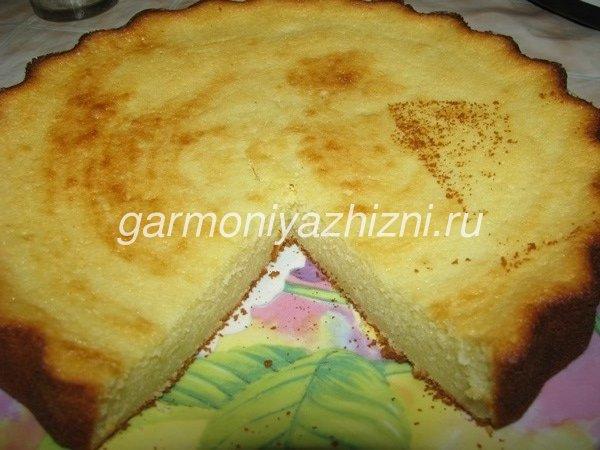 пирог на кефире без муки
