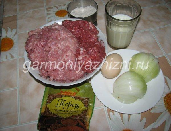 ингредиенты для домашних сосисок в плёнке