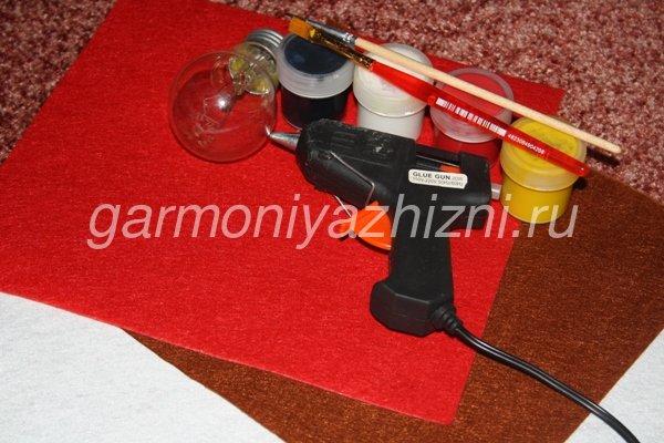 инструменты для изготовления игрушки на ёлку