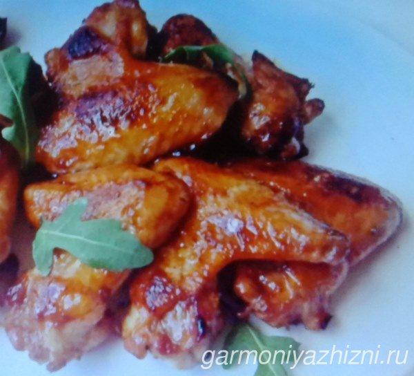 куриные крылья с медовом соусе