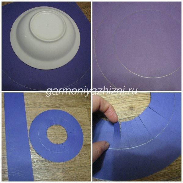 вырезаем круг для шляпы