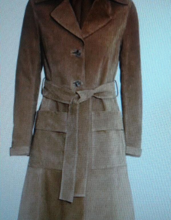 пальто из замша