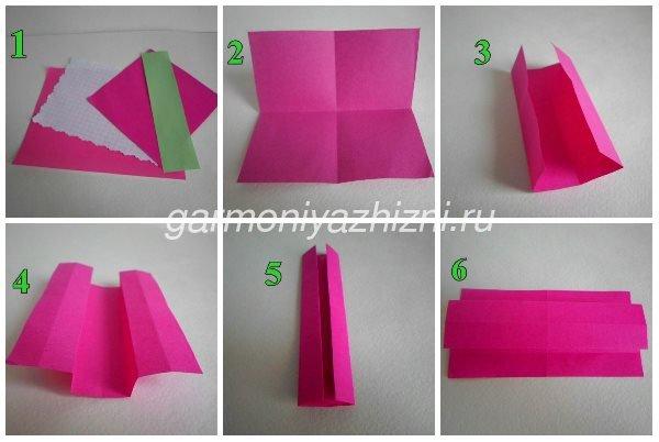 складываем платье оригами