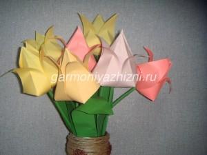 тюльпаны оригами