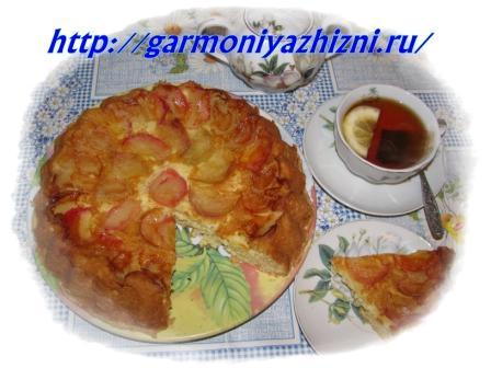 шарлотка с яблоками И