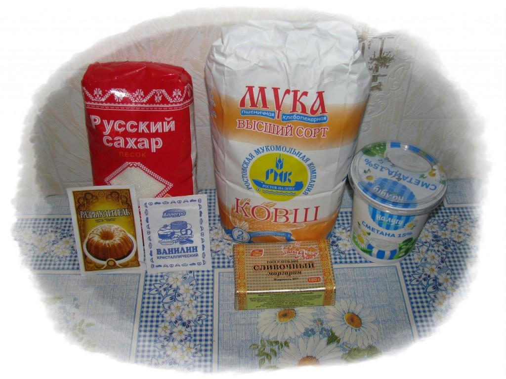 ингредиенты для печенья к чаю