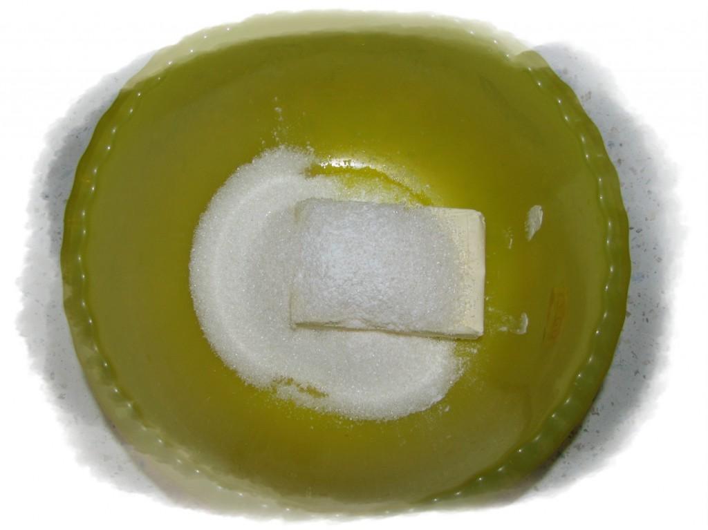 маргарин растереть с сахаром