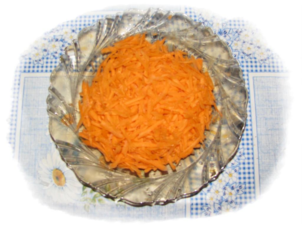 морковь потереть на тёрке