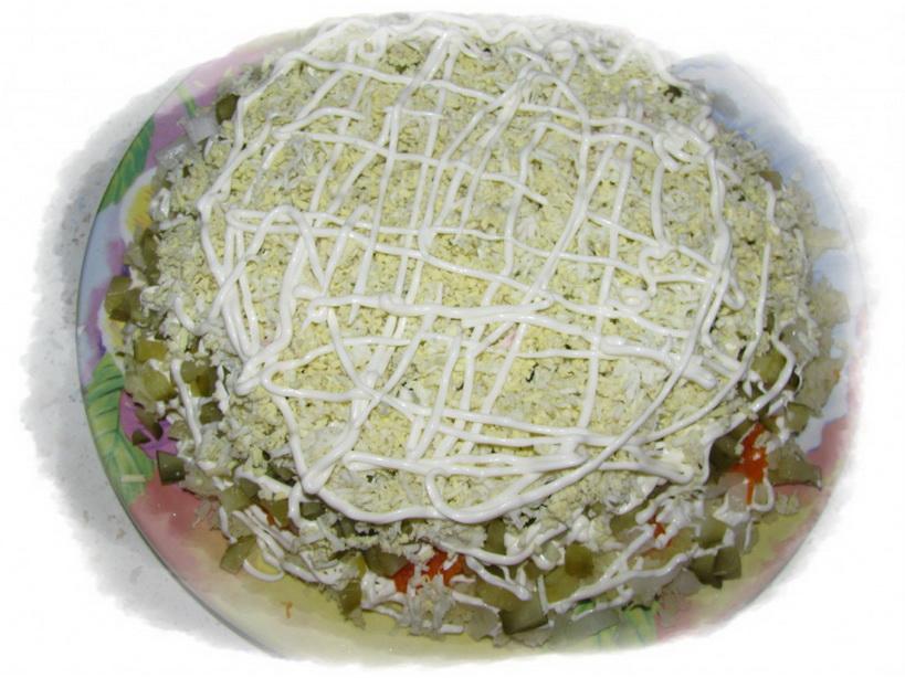5-й слой яйца, майонез