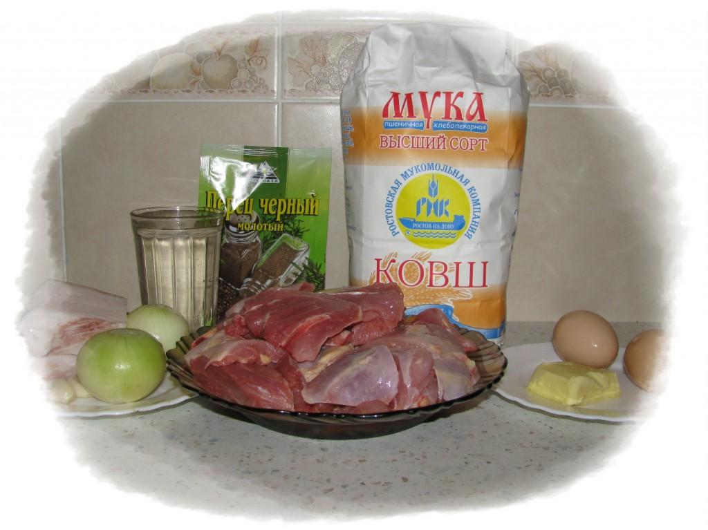 ингредиенты для пельменей