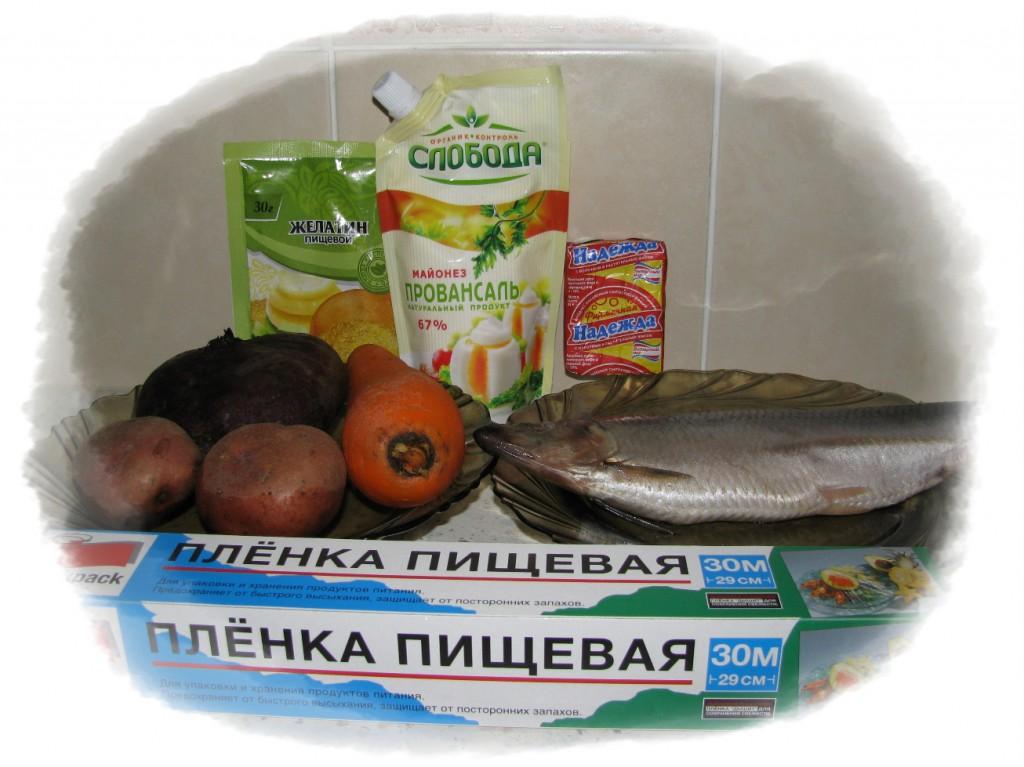 ингредиенты для рыбы по шубой