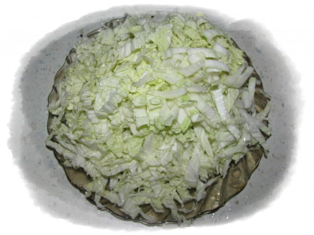 порезать капусту мелко